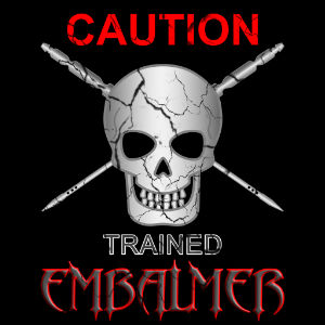 embalmer caution trained tshirt