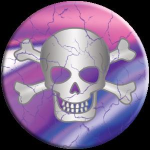 PopSocket phone grip pink purple tie dye skull