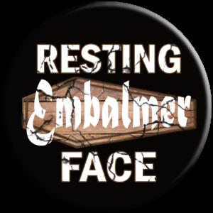 PopSocket phone grip resting embalmer face