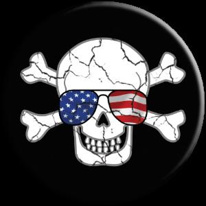 PopSocket phone grip skull USA glasses