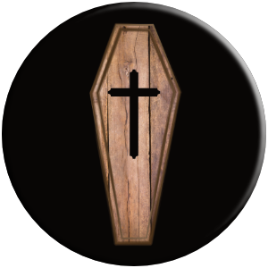 PopSocket phone grip wood coffin