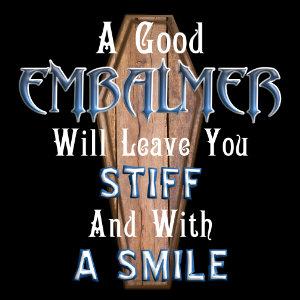 good embalmer tshirt blue