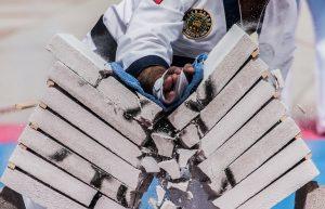 breaking bricks in karate