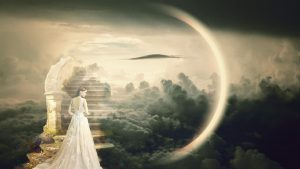 Girl walking up stairway to heaven life after death blog pic