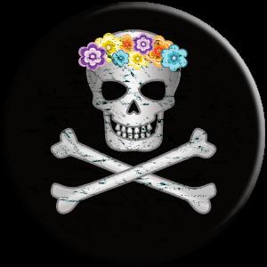 Aloha Hawaiian Flower Lei Skull Popsocket gift