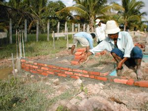 Brick layer in Cambodia