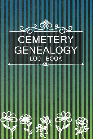 cemetery genealogy log book blue green gift