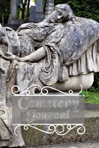 cemetery journal for genealogy reclining woman monument