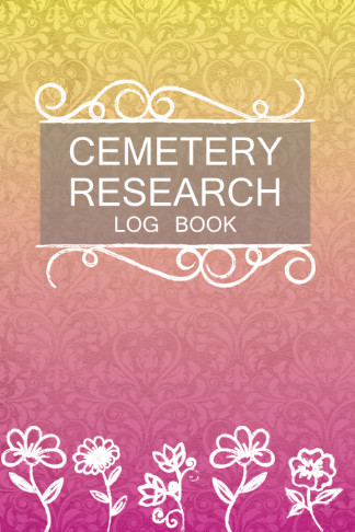 cemetery research log book pink yellow gift