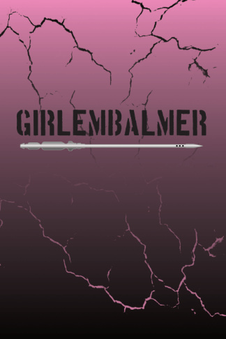 girl embalmer pink and black journal with trocar