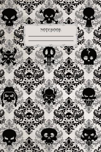 skull wallpaper school notebook cool gift