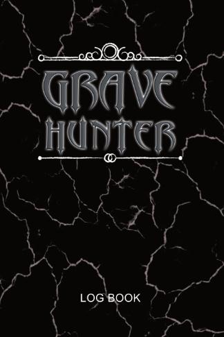 grave hunter log book spooky black