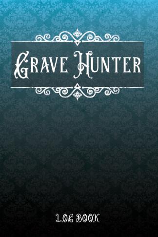 grave hunter log book black blue gothic