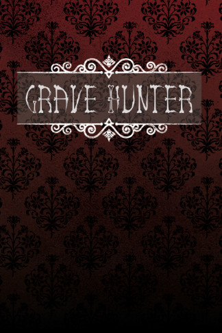 grave hunter log book black red gothic