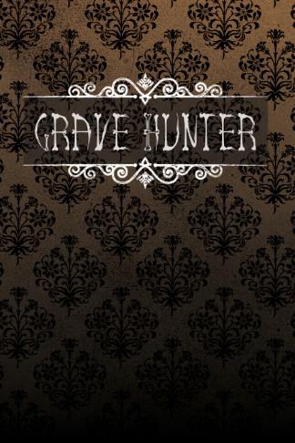 grave hunter log book black tan gothic