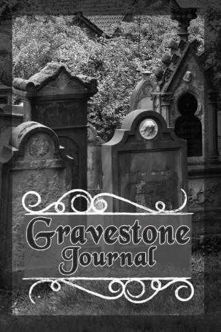 gravestone journal cemetery black white