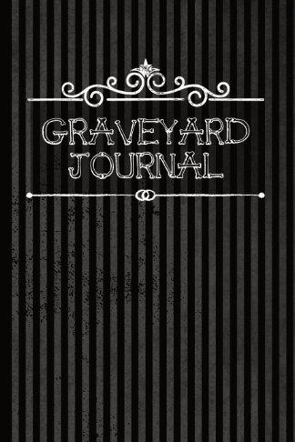 graveyard journal black stripes goth