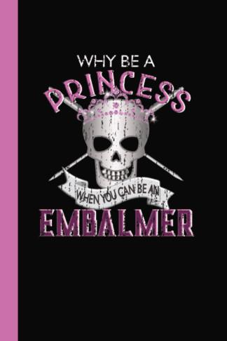 princess embalmer skull pink diary journal
