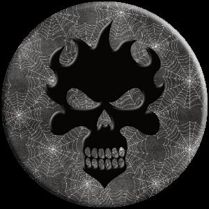flame skull spider web popsocket gift