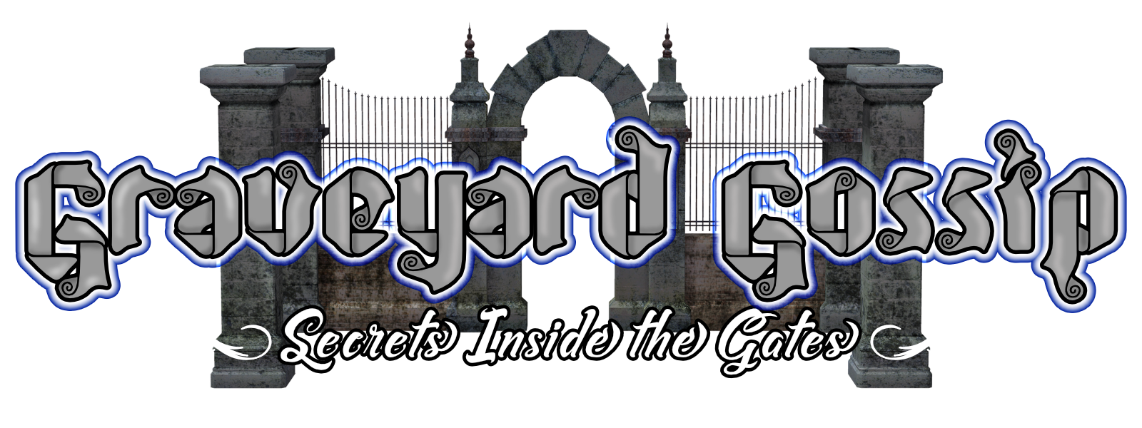 Graveyard gossip mortician gifts website banner