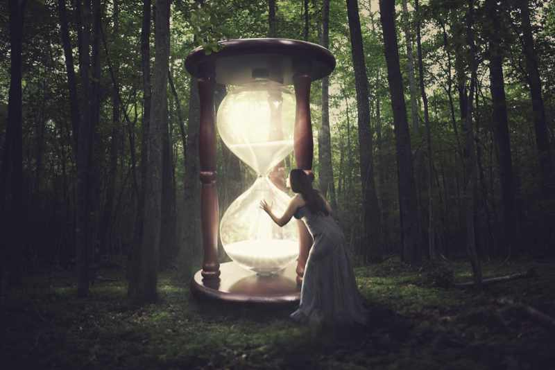 hour glass time and eternity