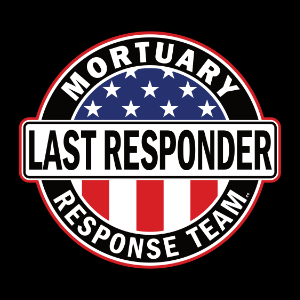 last responder american flag mortician t-shirt gift