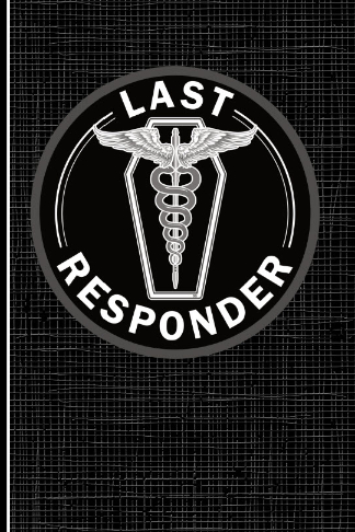 last responder mortician journal with coffin caduceus
