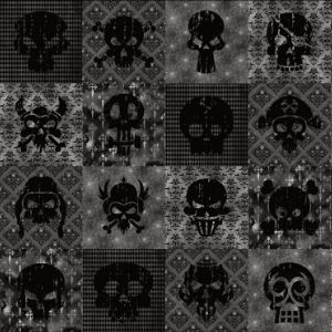 dark distressed skull collage pattern gifts