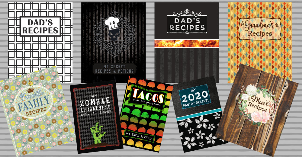 blank recipe book gifts