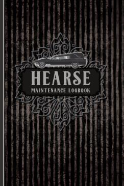 Password Logbook with Hearse Maintenance fake cover for morticians